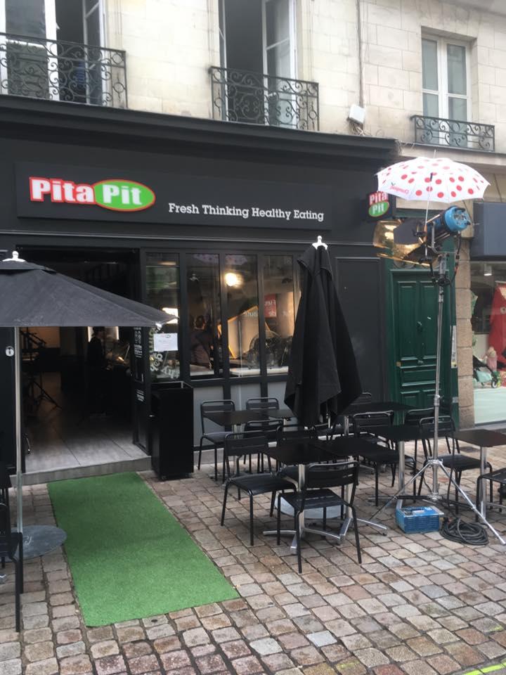 Devanture du restaurant Pitapit dans le centre ville de Nantes
