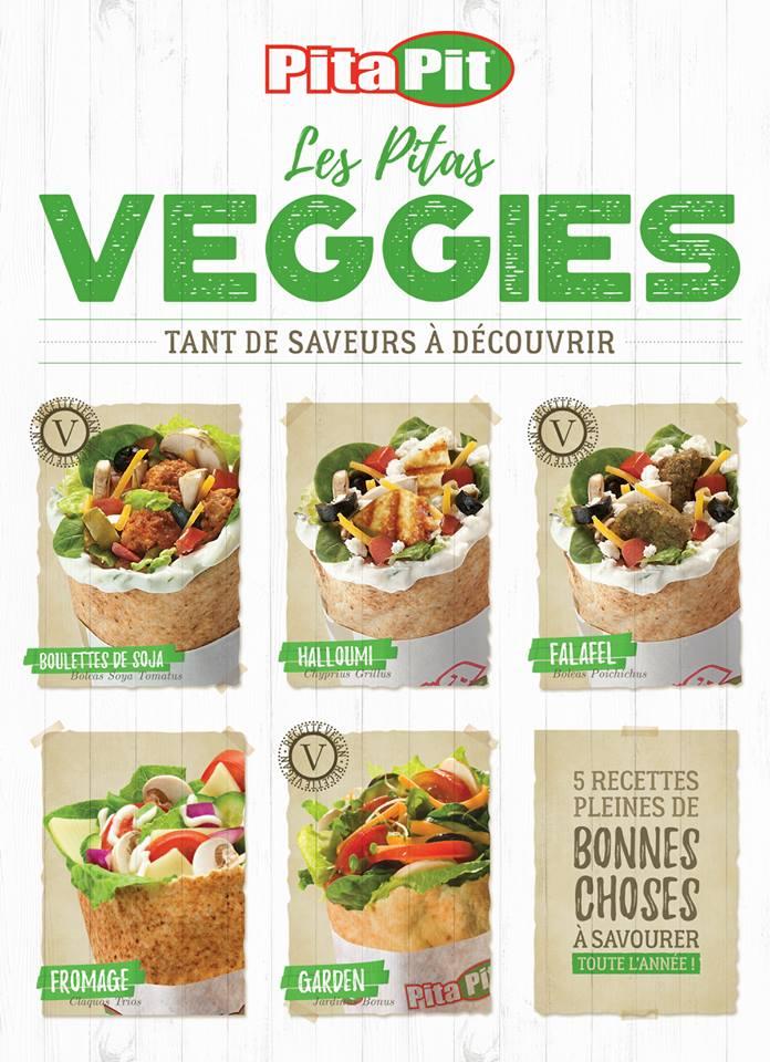 Carte vegan restaurant du magasin pitapit à nantes