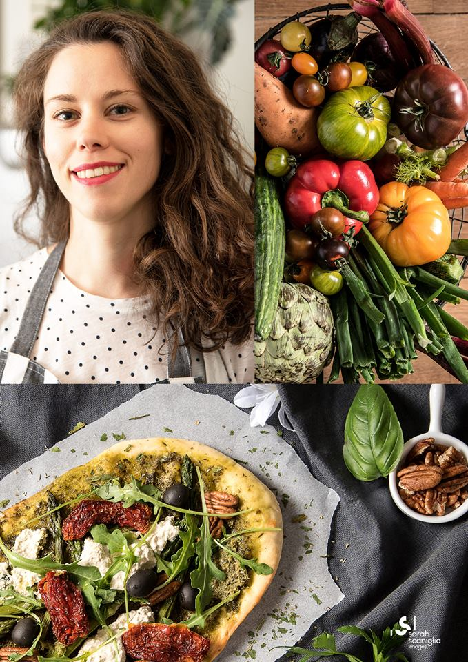 Mint Cantine Vegetale Audrey légumes pizza Vegan in Nantes Sarah Scaniglia Images 44 bruschetta légumes