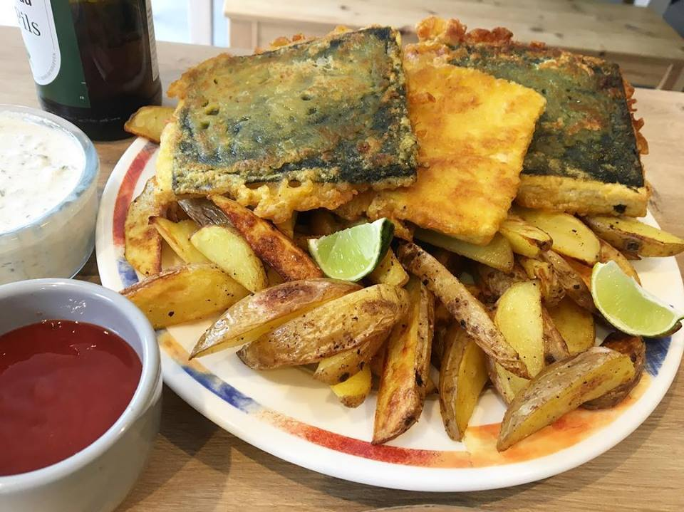 Tofish and chips L'Ethiquête Vegan in Nantes