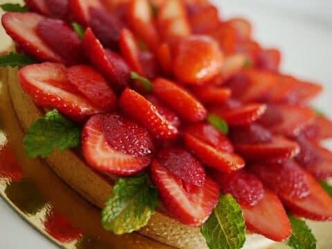 Tarte aux fraises Vegan in Nantes Lou