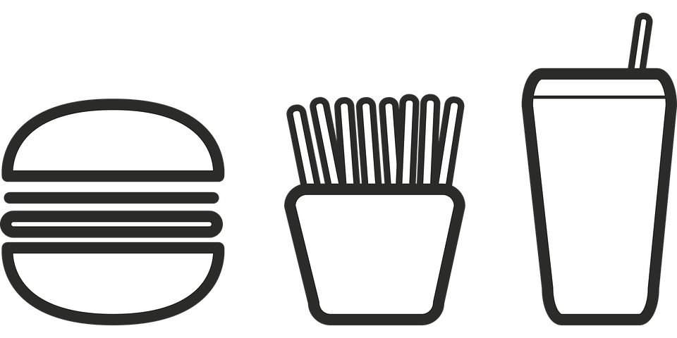 Burger frites et boisson en icone Vegan in Nantes crédits photo : Alanyadk sur Pixabay