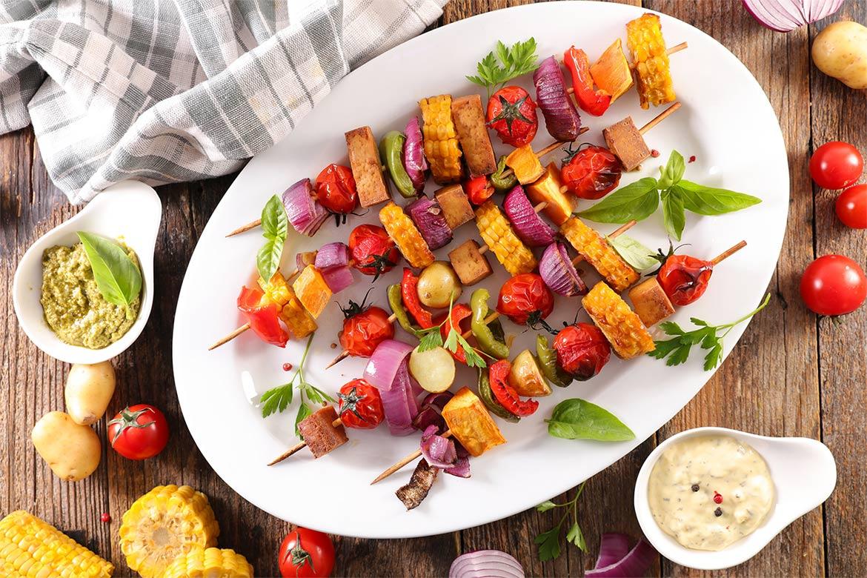 Brochettes barbecue vegan