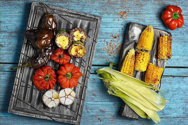 Légumes grillés au barbecue