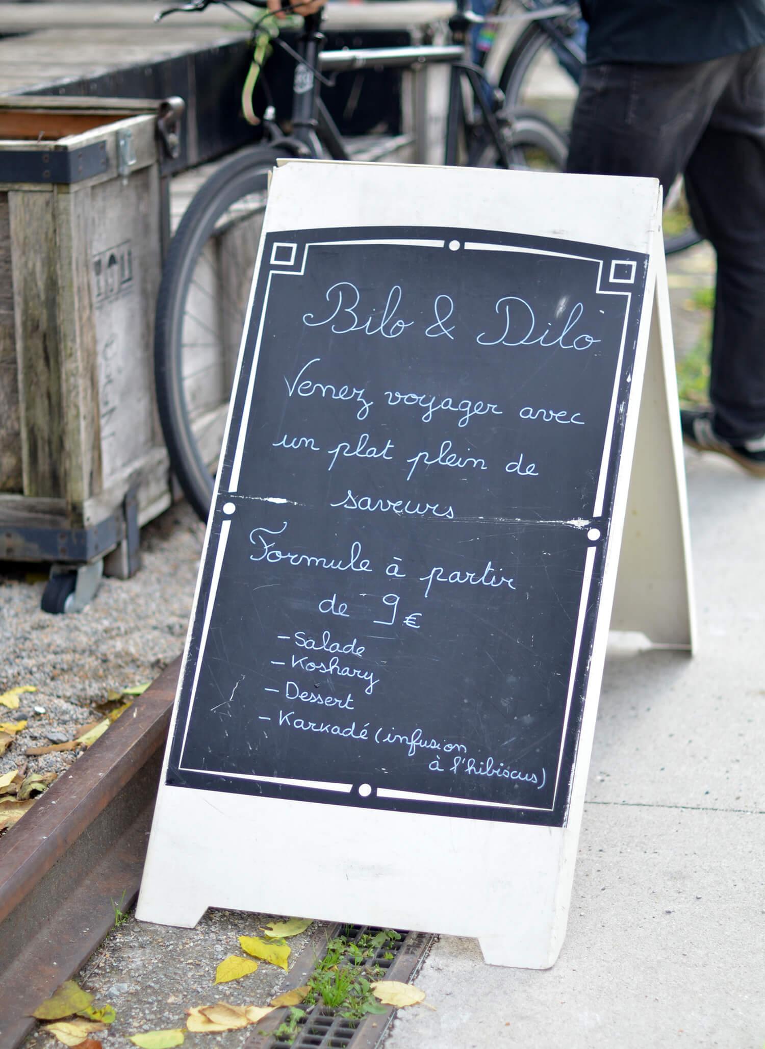 Bilo&Dilo Food truck égyptien menu vegan-friendly