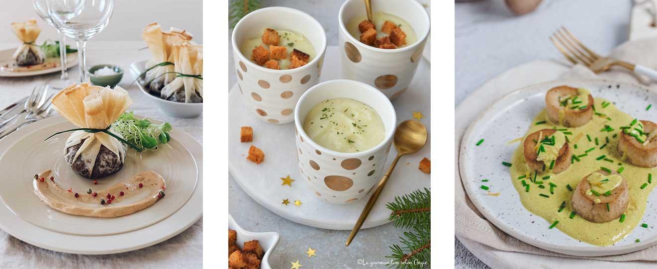 Entrées pour menu de Noël vegan