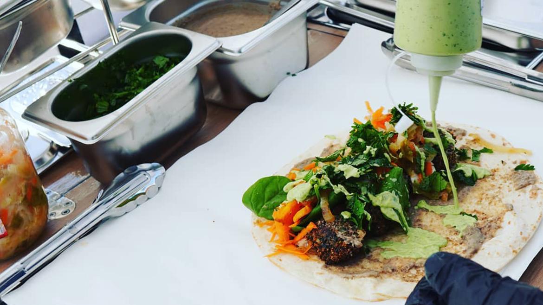 Rob's Food Bike wraps falafels vegan
