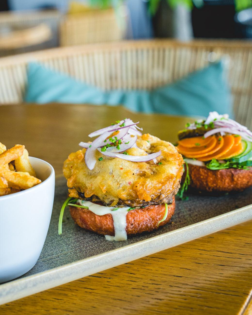 Burger vegan O Deck