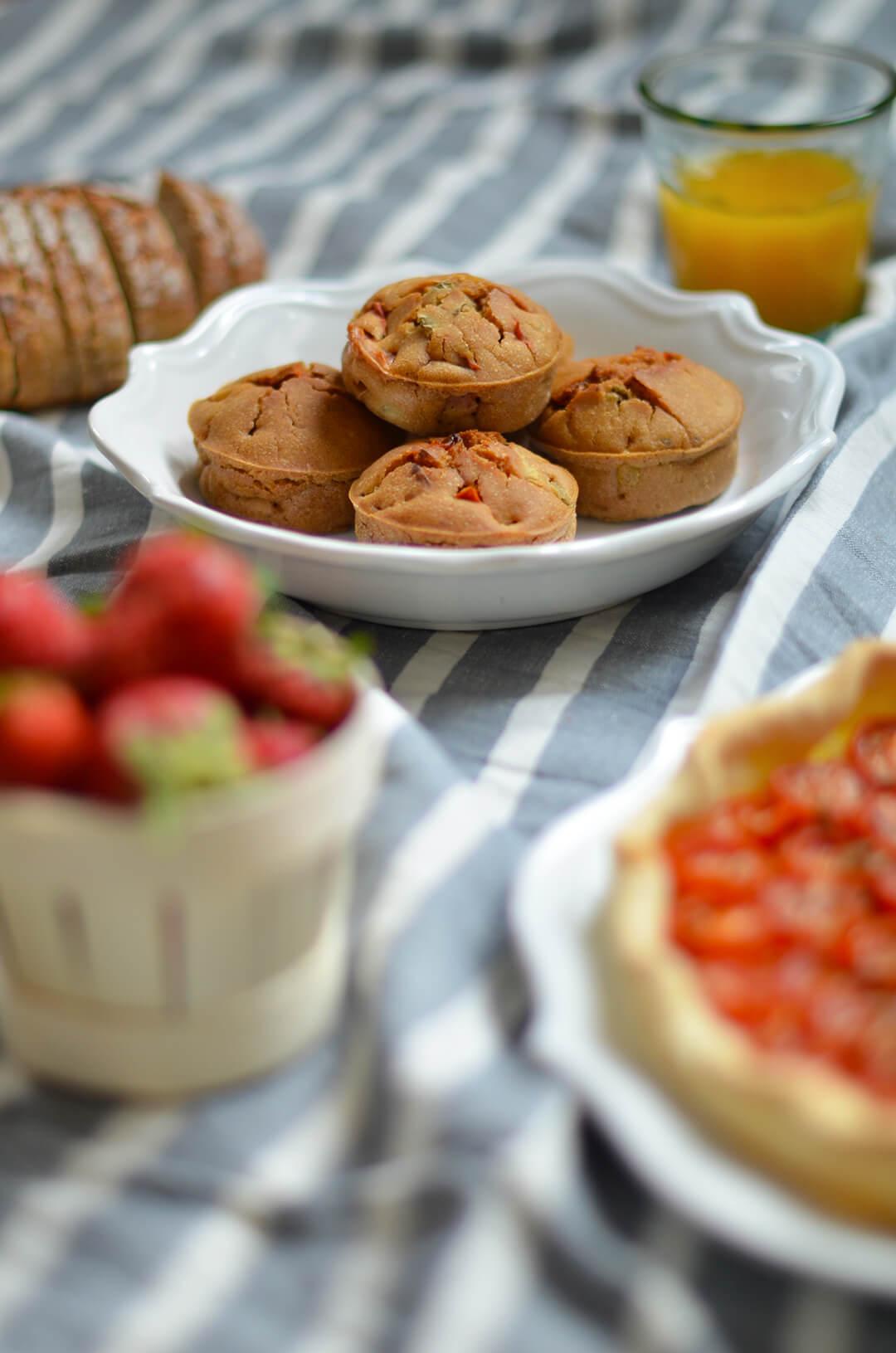 Muffins salés vegan pour pique-nique