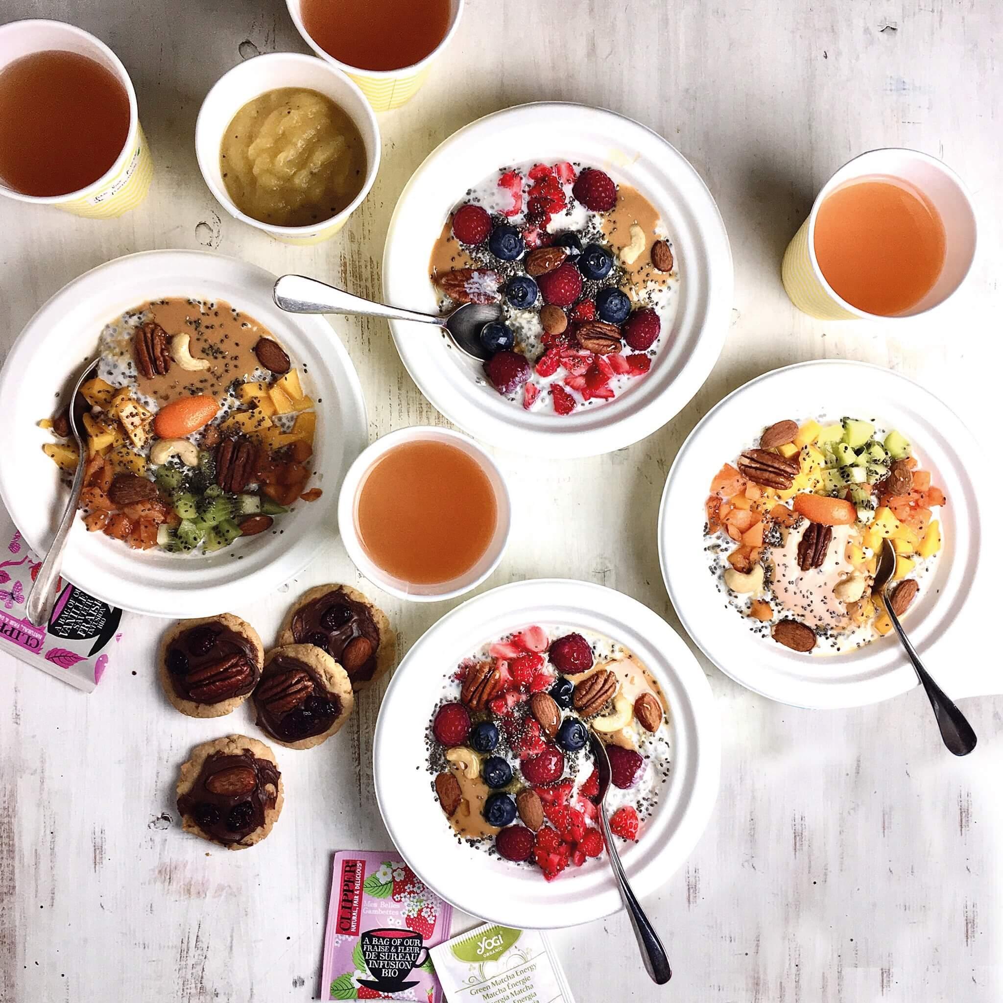 Petit déjeuner vegan healthy Vahina